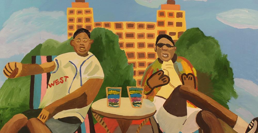 Alex Bradley Cohen, Summertime. Acrylic on canvas